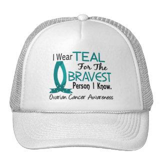 Bravest Person I Know Ovarian Cancer Trucker Hat