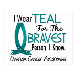 Bravest Person I Know Ovarian Cancer Postcard