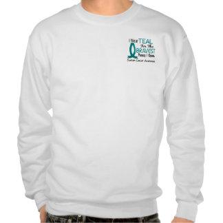 Bravest Person I Know Ovarian Cancer Pullover Sweatshirt