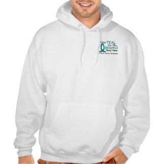 Bravest Person I Know Ovarian Cancer Sweatshirts