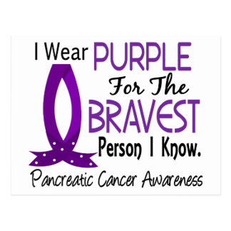 Bravest Person I Know Pancreatic Cancer Postcard
