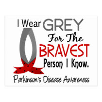 Bravest Person I Know Parkinson's Disease Postcard