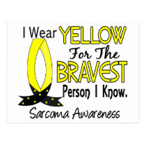 Bravest Person I Know Sarcoma Postcard