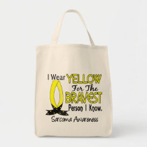 Bravest Person I Know Sarcoma Tote Bag