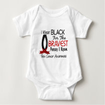 Bravest Person I Know Skin Cancer Baby Bodysuit