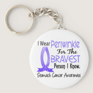 Bravest Person I Know Stomach Cancer Keychain