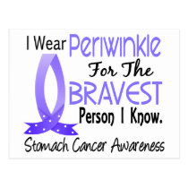 Bravest Person I Know Stomach Cancer Postcard