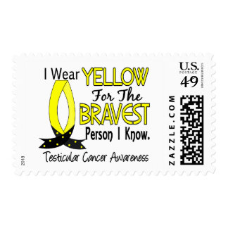 Bravest Person I Know Testicular Cancer Stamps