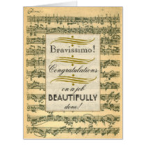 Bravissimo Congrats Vintage Music Very Large Page
