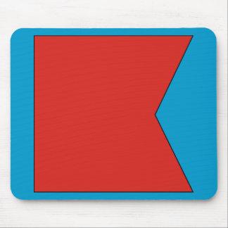 Bravo (B) Signal Flag Mouse Pad