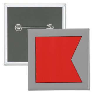 Bravo (B) Signal Flag Pinback Button
