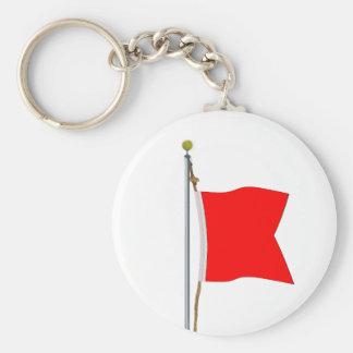 Bravo  Carrying Dangerous Goods Signal Flag Keychain