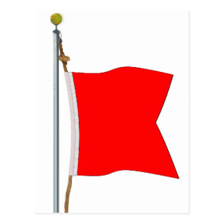 Bravo  Carrying Dangerous Goods Signal Flag Post Cards