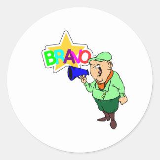 BRAVO CLASSIC ROUND STICKER