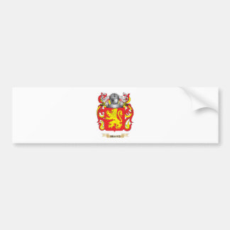 Bravo Coat of Arms (Family Crest) Car Bumper Sticker