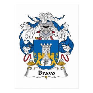 Bravo Family Crest Postcard