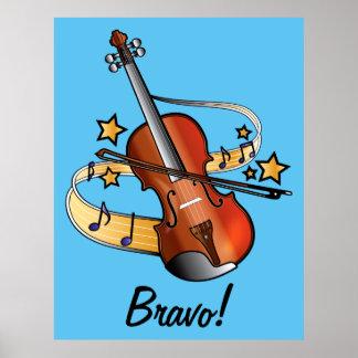 Bravo for Boy: Violin Poster