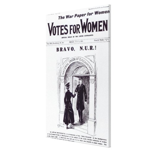 Bravo, N.U.R!, front cover of 'Votes for Canvas Print
