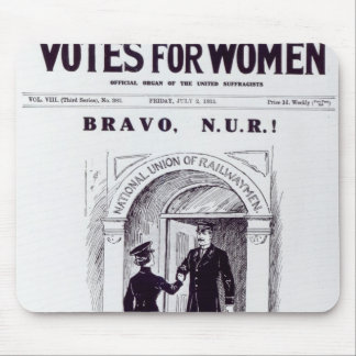 Bravo, N.U.R!, front cover of 'Votes for Mouse Pad
