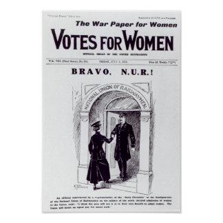 Bravo, N.U.R!, front cover of 'Votes for Poster