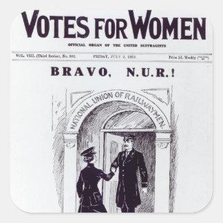 ¡Bravo, N.U.R! , portada de los 'votos para Pegatina Cuadrada