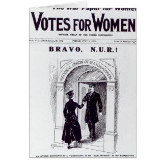 ¡Bravo, N.U.R! , portada de los 'votos para Tarjeta De Felicitación