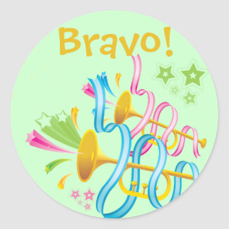 ¡Bravo! Pegatina de la celebración