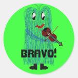 Bravo! Round Stickers