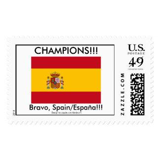Bravo, Spain! Champions! Postage