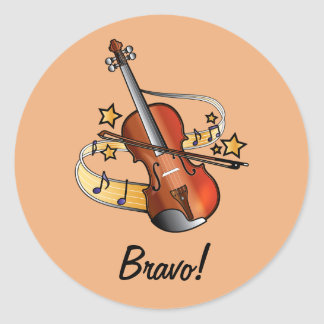Bravo Sticker for Boy Violin Student