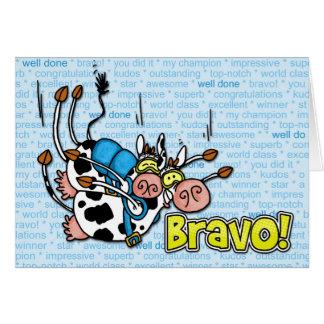 bravo - tándem skydive tarjeta de felicitación