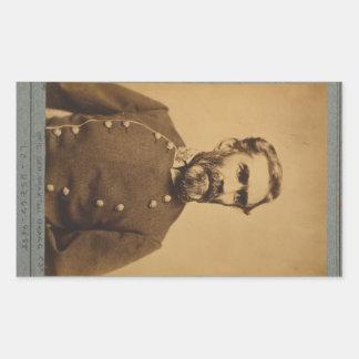 Braxton Bragg Portrait (between 1861 & 1865) Rectangular Sticker