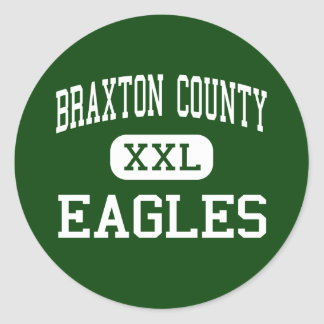 Braxton County - Eagles - High - Sutton Classic Round Sticker