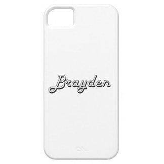 Brayden Classic Retro Name Design iPhone 5 Cases