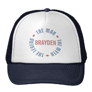 Brayden Man Myth Legend Customizable Trucker Hat