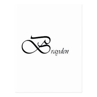 Brayden Postcard