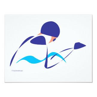 Braza abstracta 1 invitación 10,8 x 13,9 cm