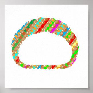 Brazalete del collar de la pulsera del anillo: LA Póster