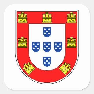 Brazão Portugal Square Stickers