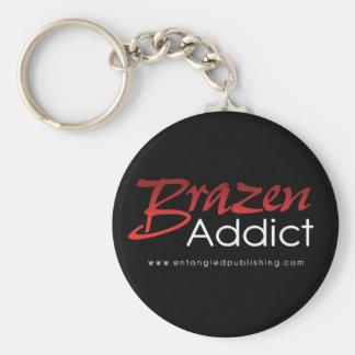 Brazen Addict - key chain - BLACK
