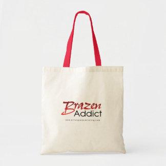 Brazen Addict Tote Bag - WHITE