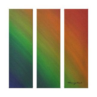 Brazen Original Rainbow Handpainted Abstract Canvas Print