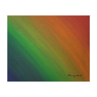 Brazen Original   Rainbow Ombre Modern Abstract Canvas Print