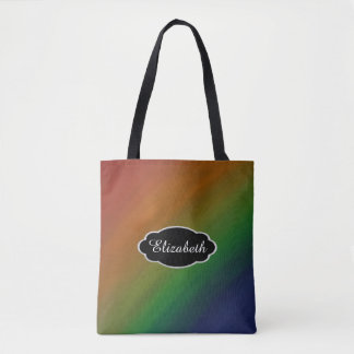 Brazen Style | Colorful Ombre Rainbow Abstract | Tote Bag