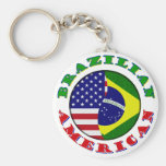 braziian american keychain