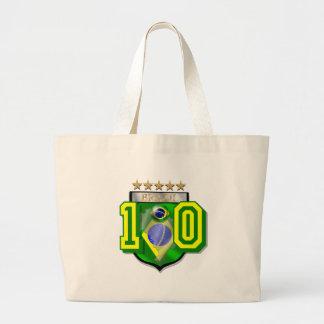 Brazil 10 Brasil number 10 soccer futebol gifts Bags