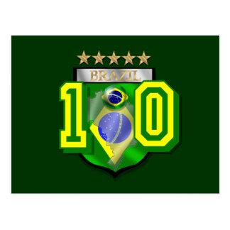 Brazil 10 Brasil number 10 soccer futebol gifts Postcard