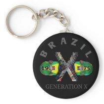 Brazil 1975 Generation X Skateboard Keychain