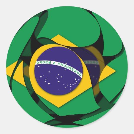 Brazil 1 classic round sticker