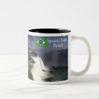 Brazil 2014 is soccer Two-Tone coffee mug